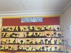 African animal silhouettes!