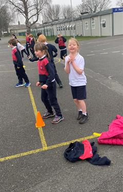 Happy faces as 2nd class return to school!